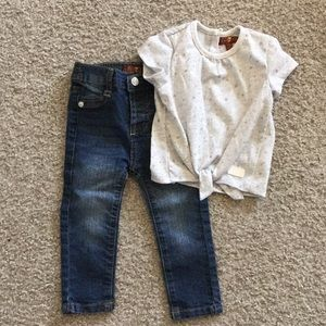 18 month girls 7 for all mankind outfit